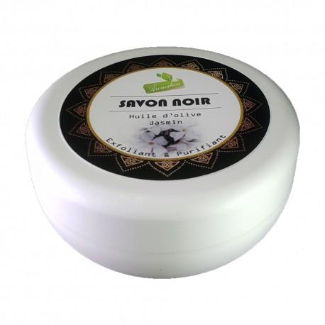 Savon Noir Huile D'olive & Jasmin -150Gr